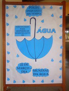 Painel Dia da Água em EVA para escola - 22 de Março – Educação e Transformação