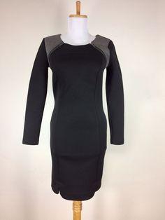 Kiind Of Dress Black Gray Zipper Size XS Sheath Career Work Polyester #KiindOf #Sheath