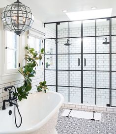 Magnificent Bathroom Design with Unique Shower Doors
