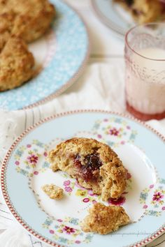 Healthy Peanut Butter Oat Scones with Jam Centers are perfect for back-to-school breakfasts. You'll love this #recipe from {YummyMummyKitchen.com}