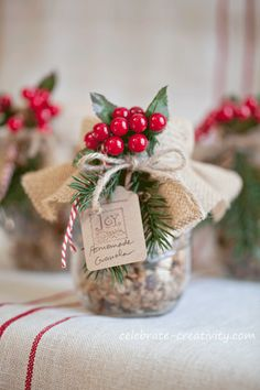 12 fun holiday ideas from Celebrate Creativity Christmas Jar Gifts, Christmas Trends, Christmas Gift Wrapping, Christmas Countdown, Christmas Goodies, Holiday Gifts, Christmas Holidays, Christmas Crafts, Christmas Decorations