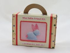 Mini Bunny Feltie Friend Kit craft kits for children - Buttonbag - Made in Britain