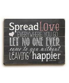 Love this 'Spread Love' Wall Art by ArteHouse on #zulily! #zulilyfinds