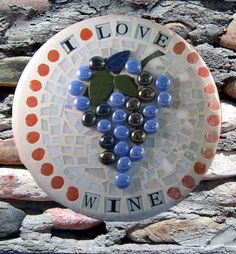 Glass mosaic stepping stone