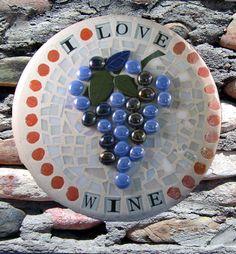 Glass mosaic stepping stone