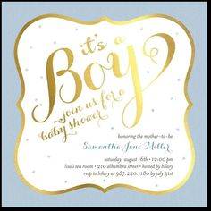 TOUCH OF GOLD: BLUEBABY SHOWER INVITATIONS @tinyprints