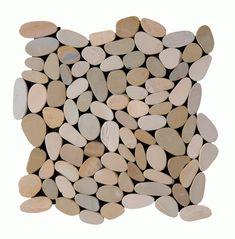 Maniscalco Stone - Pebbles - Mosaics - Botany Bay Sliced Olive _ x Shower Floor Pebble Mosaic, Mosaic Tiles, Mosaics, Botany Bay, North Carolina Homes, Best Oils, Color Blending, Stone Tiles, Bath Decor