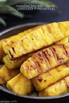 Brown Sugar Cinnamon Grilled Pineapple Caramelized Brown Sugar Cinnamon Grilled Pineapple Recipe on Yummly. Brown Sugar Cinnamon Grilled Pineapple Recipe on Yummly. Grilled Pineapple Recipe, Grilled Fruit, Pineapple Recipes, Fruit Recipes, Summer Recipes, Grilled Vegetables, Chicken Recipes, Roasted Pineapple, Grilling Recipes
