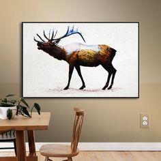 """Loon Peak Rocky Mountain Elk Framed Graphic Art Size: 14"""" H x 18"""" W x 2"""" D"""