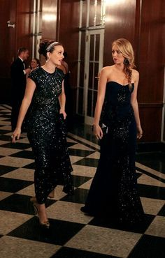 blair and serena  love their dresses