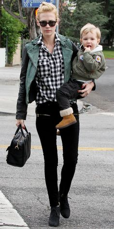 January Jones // Click image for details on what she is wearing!