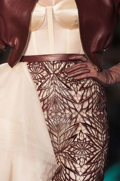 Details from Jean Paul Gaultier Haute Couture Spring 2014.