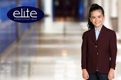 See the Elite School Uniform Collection from Executive Apparel featuring Girls Blazers in washable polyester. School Uniform Fashion, School Uniform Girls, Apparel Brands, Blazers, Street Wear, Stylish, How To Wear, Collection, Blazer