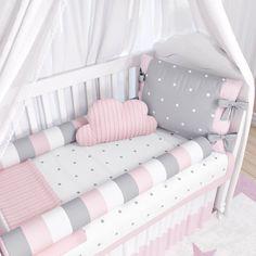 kit berço para quarto de bebê Baby Bedroom, Baby Room Decor, Girls Bedroom, Baby Room Design, Crib Bedding Sets, Baby Cribs, Girl Room, Babys, Bumper Pads For Cribs