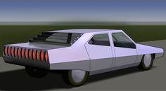 dystopian retro futuristic car (80s) Retro Futuristic