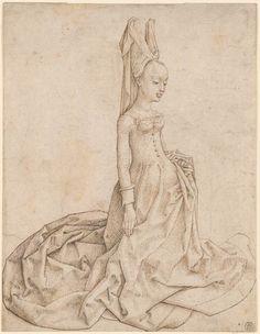 Netherlandish School | Kneeling Lady | Drawings Online | The Morgan Library…