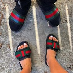 Gucci slipper - Men or Women Fashion slides Sandals Outfit, Cute Sandals, Slide Sandals, Dress Shoes, Shoes Heels, Fashion Slides, Gucci Slipper, Cute Slides, Gucci Brand