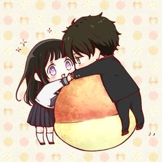 Image shared by Waifu-chan. Find images and videos about cute, anime and kawaii on We Heart It - the app to get lost in what you love. Anime Chibi, Kawaii Chibi, Cute Chibi, Kawaii Anime Girl, Anime Manga, Anime Art, Anime Couples Drawings, Cute Anime Couples, Kyoto Animation