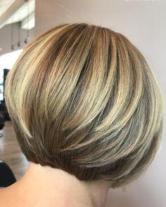 Bob Hairstyles For Fine Hair, Thin Hair Haircuts, Short Bob Haircuts, Short Hair Cuts, Cool Hairstyles, Short Hair Styles, Beautiful Hairstyles, Back Of Short Hair, Hair Cuts Thick Hair