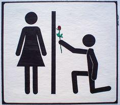 romantic bathroom door sign...