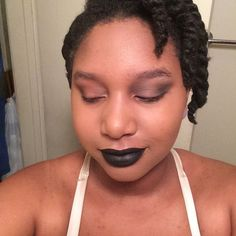 So #timewarnercable wants to play with me tonight. Video is at 62% and now I gotta release in the morning. So I'm putting on my bad ass face (minus brows because lazy) for battle. Nothing is scarier than an angry girl looking good in black lipstick. -- #makeup #makeuplover #makeupmafia #makeupjunkie #makeupaddict #makeupaddicts #beauty #beautyjunkie #beautylover #beautyaddict #nc50 #nc45 #blackgirls #blackbeauty #woc #c3bysparrow