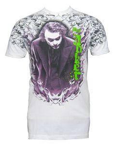 518a958f8 Batman The Dark Knight Joker Up In Flames White T-Shirt $20 - Size XL