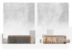 North & South Elevation -  Oliver Justice #Marseille #Urban Design #Architecture
