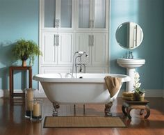 Clawfoot tubs mix the reminiscent days of yesteryear with today's modern amenities.