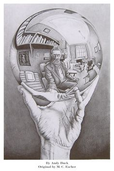 self portrait by Andy Buck....