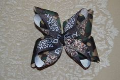 Duck Dynasty Camo Hair Bow!