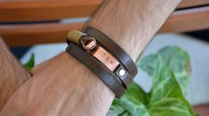 Men Bracelet Leather Bracelet Personalized Bracelet by PukkaMen