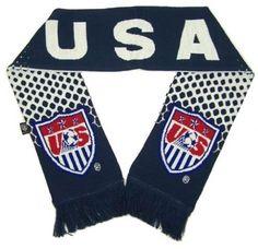 Team USA Soccer Scarf NEW Double Sided National Team #Rhinox