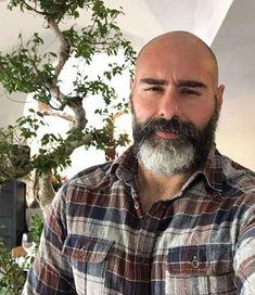 Bald Men With Beards, Bald With Beard, Grey Beards, Moustache, Beard No Mustache, Scruffy Men, Hairy Men, Sexy Bart, Oscar 2017