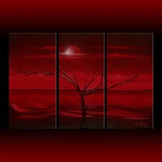 """Red abstract by Theo Dapore """"Red Sky at Night"""""""