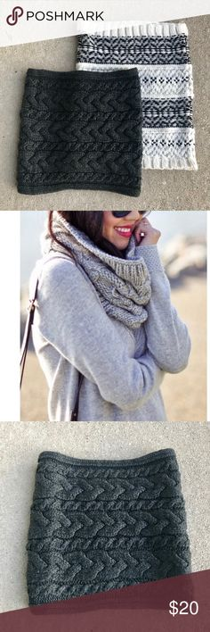 c1727a62f0086 Two GAP neck warmers scarves Two neck warmers snoods Infinity style and  extra tall
