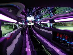 Purple Hummer Limo Inside I stumbled upon this unique great limo service. View more on this websites