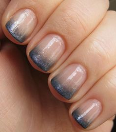 Hit or Miss: Ombre Glitter French-Mani Nails | LUUUX