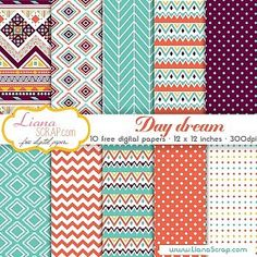 Free digital paper pack – Day Dream Set