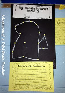"""Constellation Writing Activity-Students create a constellation and create an """"origin story"""" Science Resources, Science Lessons, Science Education, Teaching Science, Science Activities, Writing Activities, Science Ideas, Science Projects, Art Lessons"""