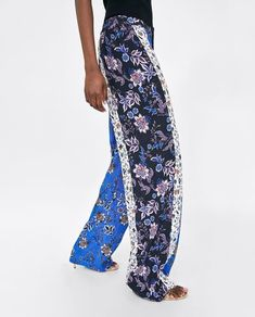 PATCHWORK PRINT TROUSERS