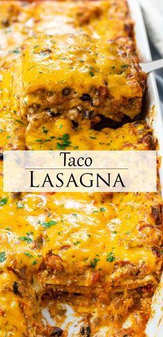 Taco Lasagna, Lasagna Noodles, Lasagna Recipes, Lasagna Recipe Beef, Mexican Lasagna Recipe With Noodles, Mexican Dishes, Mexican Food Recipes, Rice Recipes, Casserole Recipes