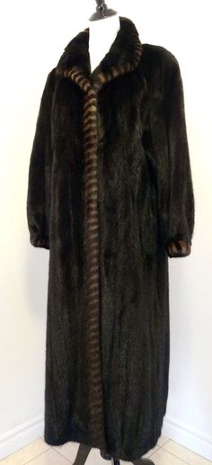 Nina Ricci Paris Genuine Female Mink Long Fur Jacket Coat Womens L Mint Cond!