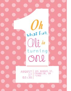 Birthday Invitations Homemade Card Party With Beautiful Pink Polka Dot Pattern Backdrop And