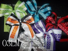 3 Layer Ribbons Cheer Hair Bow Cheer Bow Dance Drill Team by O3LM, $6.50