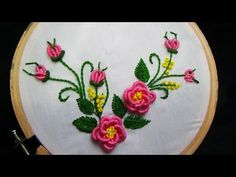 Hand embroidery designs. Embroidery tutorial.Embroidery for frocks  and dresses. - YouTube