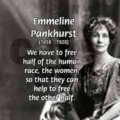 On this day 14th July,1858 the birth in Moss Side, Manchester of Emmeline…