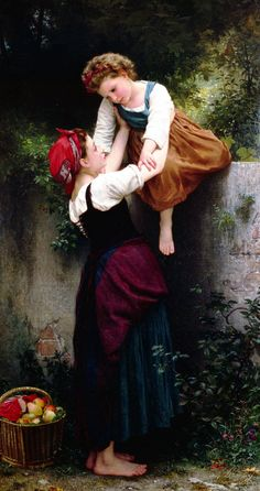 Help Over the Garden Wall by William-Adolphe Bouguereau