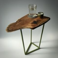 Mesquite & Steel Side Table $150