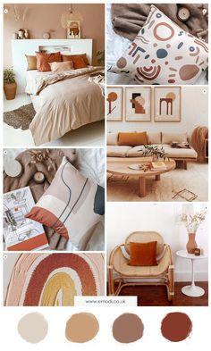 Burnt Orange Bedroom, Living Room Orange, Warm Colours Living Room, Living Room Brown, Orange Room Decor, Orange Bedrooms, Warm Bedroom Colors, Burnt Orange Decor, Room Ideas Bedroom