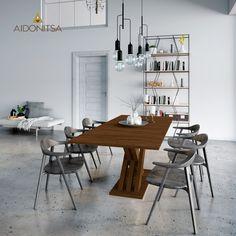 Τραπεζαρία επεκτεινόμενη, 160(200)x90x76 Xρώμα Wenge. IR-CITY6230. Από την Alphab2b.gr Dining Room, Dining Table, Office Desk, Furniture, Home Decor, Products, Desk Office, Decoration Home, Desk